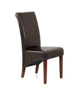 Carlo Chair Brown Leather