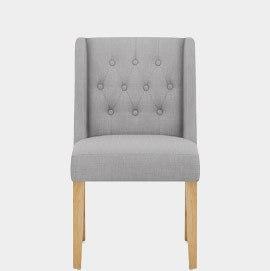 Chatsworth Oak Dining Chair Grey Fabric