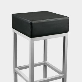 Cuboid Bar Stool Black
