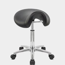 Swivel with Wheels · Deluxe Saddle Stool Black & Bar Stools for Beauty Salons | Atlantic Shopping islam-shia.org