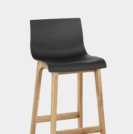 Drift Oak And Black Bar Stool