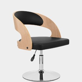 Evelyn Chair Oak and Black
