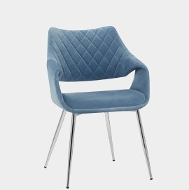 Fairfield Chrome Chair Blue Velvet