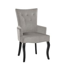 Fleur Chair Grey Velvet