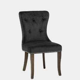 Florence Dining Chair Black Velvet