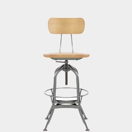 Fuse Toledo Style Antique Steel Stool