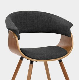 Grafton Dining Chair Walnut and Grey