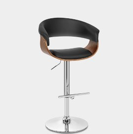 Grafton Stool Walnut & Black