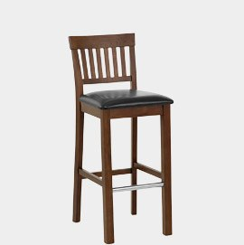 Grasmere Dark Oak Bar Stool Black