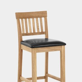 Grasmere Oak Stool Black