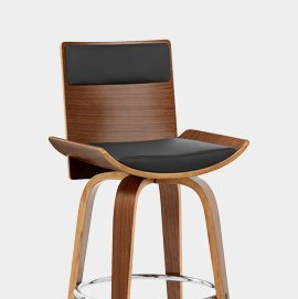 Harper Bar Stool Walnut and Black