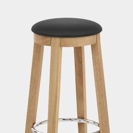 Ikon Kitchen Stool Oak and Black