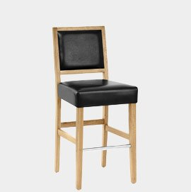 Jasper Bar Stool Oak & Black