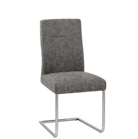 Lancaster Brushed Steel Dining Chair Grey