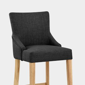 Magna Oak and Grey Bar Stool