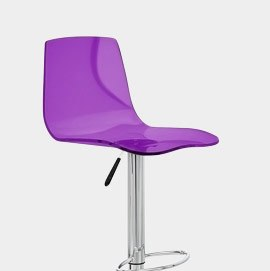 Odyssey Acrylic Stool Purple