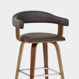 Ontario Walnut Bar Stool Brown