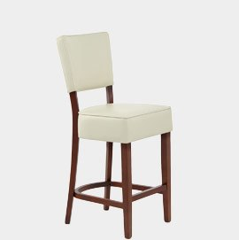 Presley Walnut Stool Cream