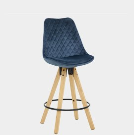 Prism Bar Stool Blue Velvet