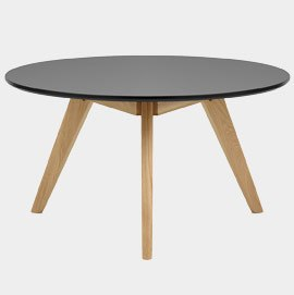 Radius Coffee Table Oak and Black