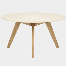 Radius Coffee Table Oak and Cream