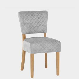 Ramsay Oak Dining Chair Grey Velvet