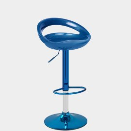 Rocco Blue Chrome Bar Stool