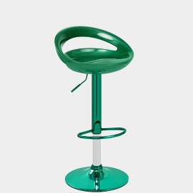 Rocco Green Chrome Bar Stool