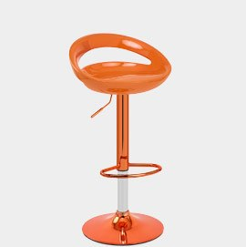 Rocco Orange Chrome Bar Stool