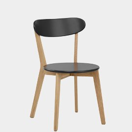 Rush Oak And Black Dining Chair