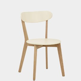 Rush Oak And Cream Dining Chair