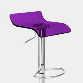 Shimmer Bar Stool Purple