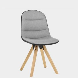 Ski Dining Chair Grey & Black
