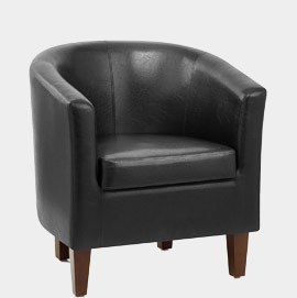 Tub Chair Black