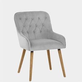 Vienna Dining Chair Grey Velvet