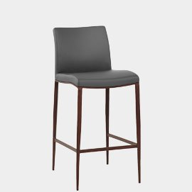 Wenge Bar Stool Walnut & Grey