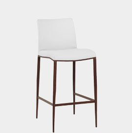 Wenge Bar Stool White