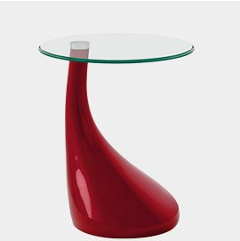 Whirl Small Glass Coffee Table Red