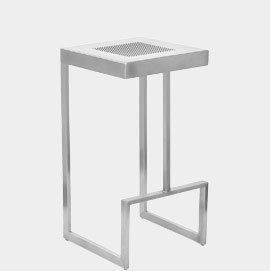 Zappa Brushed Steel Stool