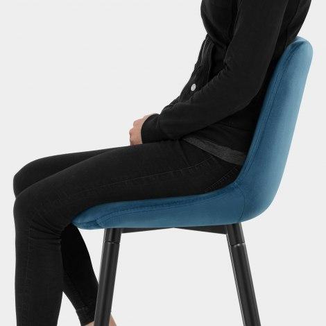 Indi Bar Stool Blue Velvet Seat Image