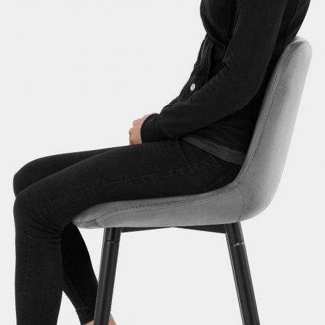 Indi Bar Stool Grey Velvet Seat Image