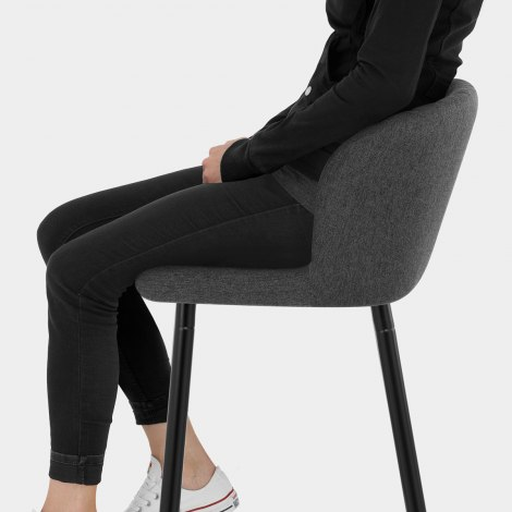Strand High Bar Stool Charcoal Fabric Seat Image