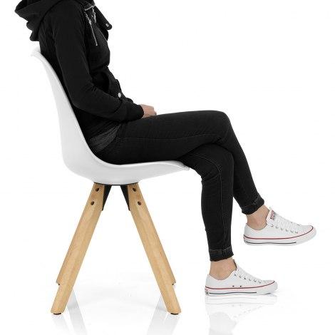 Aero Dining Chair White Seat Image