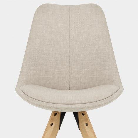 Aero Dining Chair Beige Fabric Seat Image