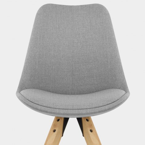 Aero Dining Chair Grey Fabric Seat Image