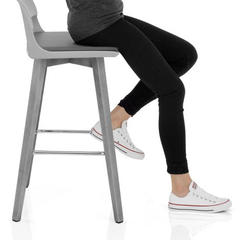 Alaska Bar Stool Grey Seat Image