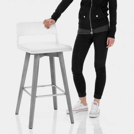 Alaska Bar Stool White Features Image