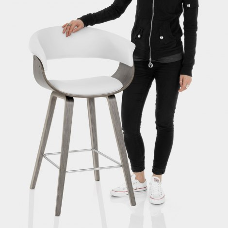 Alexis Wooden Stool White Features Image
