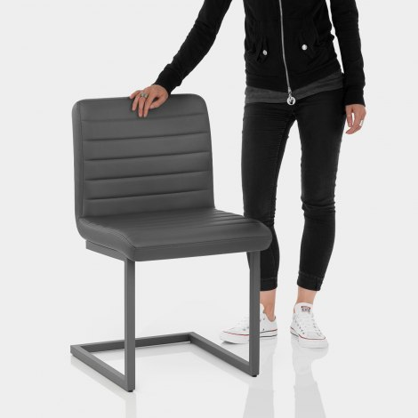 Alpha Dining Chair Grey Features Image