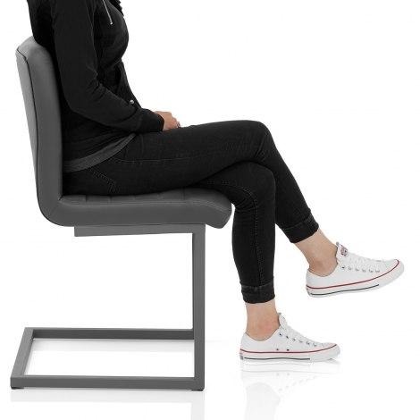 Alpha Dining Chair Grey Frame Image